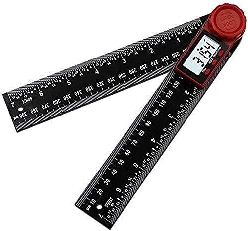 GCX Conveniencia Regla de ángulo Pantalla Digital Ángulo de Pantalla Digital Tarjeta de Pantalla Digital Negro Vernier Caliper Level Ruler De múltiples Fines