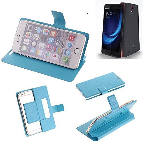 K-S-Trade Flipcover Für Leagoo Elite 5 Schutz Hülle Schutzhülle Flip Cover Handy Case Smartphone Handyhülle Blau