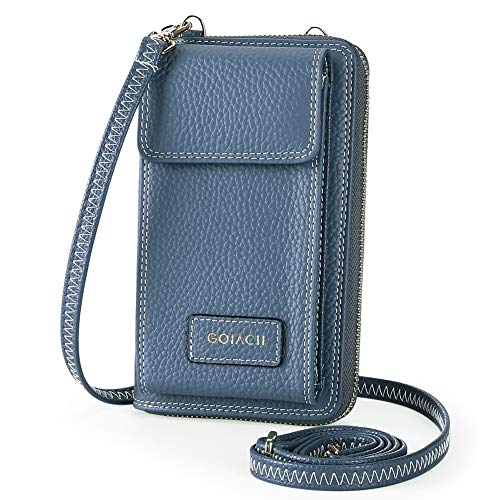 Leather Crossbody Bag Cell Phone Pruse Small Wallet for Womens Wristlet Handbags