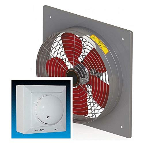 Uzman-Versand SMK-400 Wandventilator mit Drehzahlregler, Axial Wand Fenster Ventilator Einbauventilator Wandgebläse Wandlüfter Ablüfter Ventilatoren Fensterventilator Abluft luft Absaugung