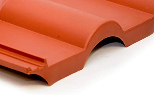 PremiumX Cubierta del techo Frankfurt Red Teja Cubierta del techo Teja de pl/ástico PVC