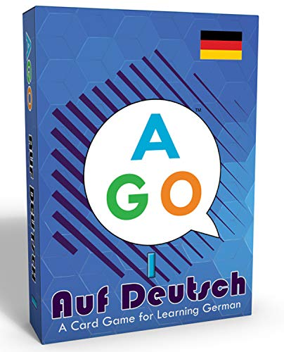 Juegos de cartas AGO Auf Deutsch: Juegos educativos para aprender aleman. 54 flash cards en aleman para principiantes. ¡Un juego de cartas mucho más divertido que un curso de aleman convencional!