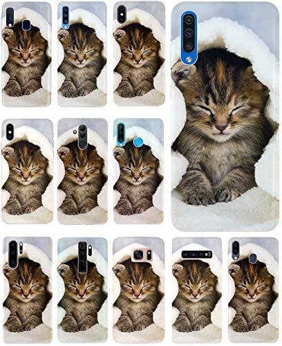 CoverHeld Hülle für Samsung Galaxy S4 Mini Handyhülle Design 1003 Katze Katzen Baby Braun Blau Weiß aus flexiblem Silikon SchutzHülle Softcase HandyCover Hülle für Samsung Galaxy S4 Mini