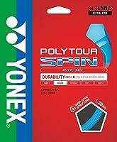 ヨネックス(YONEX) 硬式テニス ストリングス ポリツアースピン 120 (1.20mm) PTGS120 コバルトブルー