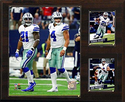 """C&I Collectables NFL Dallas Cowboys Mens 1215Ellprescnfl 12""""X15"""" Prescott-Elliott Dallas Cowboys Player Plaque, Brown, N/A"""