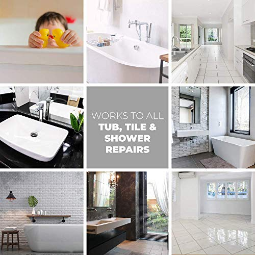 Tub Repair Kit White for Acrylic, Porcelain, Enamel