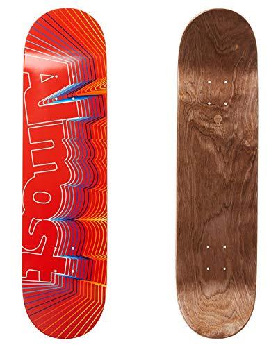 Almost Skateboard-Brett/Deck, 20,3 cm (8 Zoll), Vibrate Logo Rot, 8.0