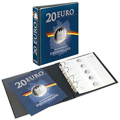 Lindner 3536M PUBLICA M Vordruckalbum 20 Euro-Silbermünzen Deutschland