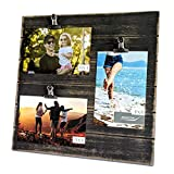 Modicum | Shiplap Photo Display Board - Picture Frame with Clips for 3 Photos (Three 4x6, ...