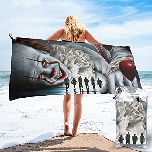 JJKKFG-H Movie It Pennywise toalla de secado rápido, ligera, para toallas de baño suaves para piscina, natación, viajes, silla de playa 31.5 pulgadas X63