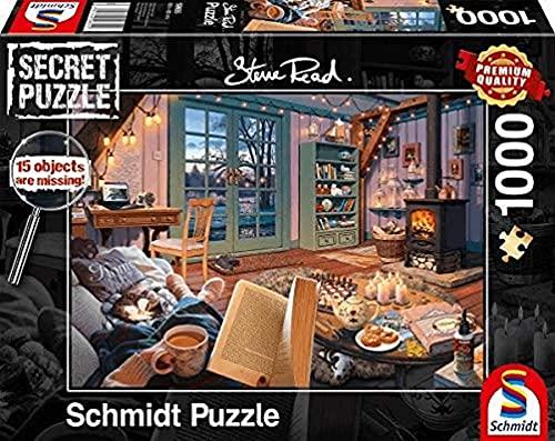 Schmidt Spiele 59655 Secret - Puzzle de 1000 Piezas, diseño de casa de Vacaciones, Multicolor