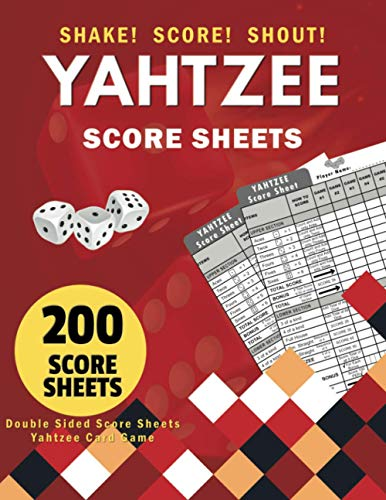 Yahtzee Score Sheets: Yahtzee Score Pads for Handheld , Travel and Deluxe Edition Game