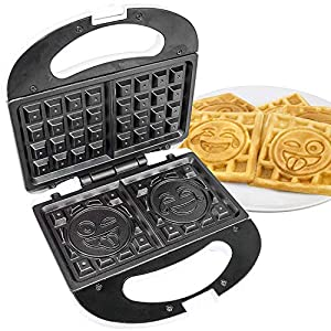 Emoji Waffle Maker Machine; Waffle Machine; Double Waffle Iron Waffle Machine; Flip Waffle Iron Our Waffle Iron is the Only One in the World That Makes Emoji Tears of Joy Out of All Your Emoji Stuff, This Will Be Your Favorite; Waffles Machine; Iron ...