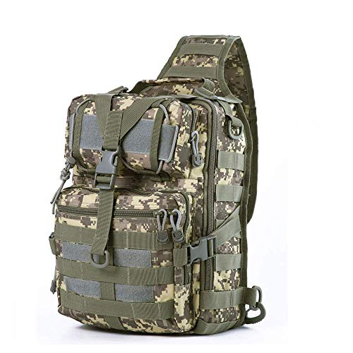 HAOMUK Tactical Sling Bag Pack Military Rover Shoulder Sling Backpack EDC Molle Assault...