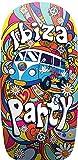 [page_title]-Lively Moments Bodyboard Ibiza Party mit Flower Power Bus ca. 92 cm/Hippie Schwimmbrett/Wellenreiter/Body Board
