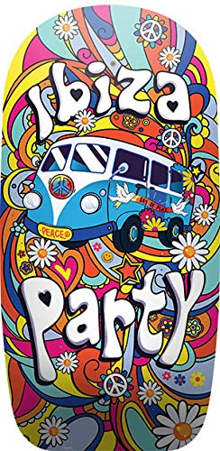 Lively Moments Bodyboard Ibiza Party mit Flower Power Bus ca. 92 cm/Hippie Schwimmbrett/Wellenreiter/Body Board