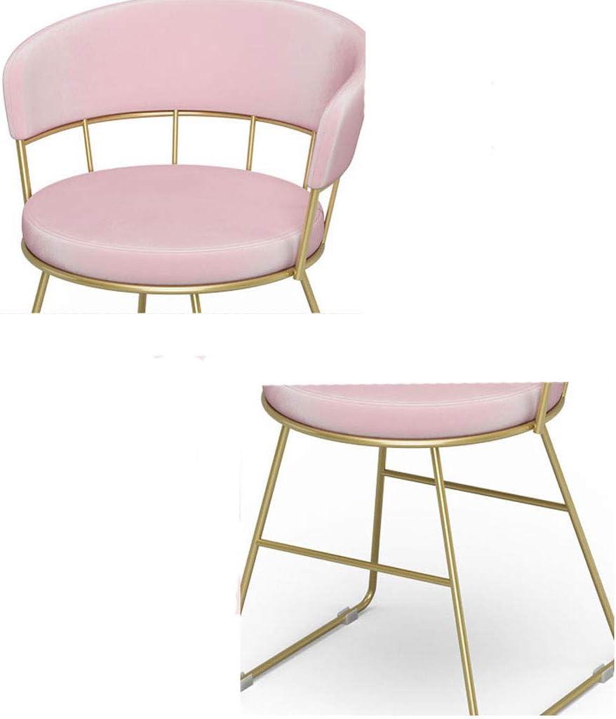 WDX- Chaise de maquillage moderne minimaliste coiffeuse tabouret salle à manger chaise chaise de dossier de chambre mode (Color : C) C