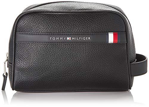 Tommy Hilfiger Herren Downtown Washbag Taschenorganizer, Schwarz (Black), 1x1x1 cm