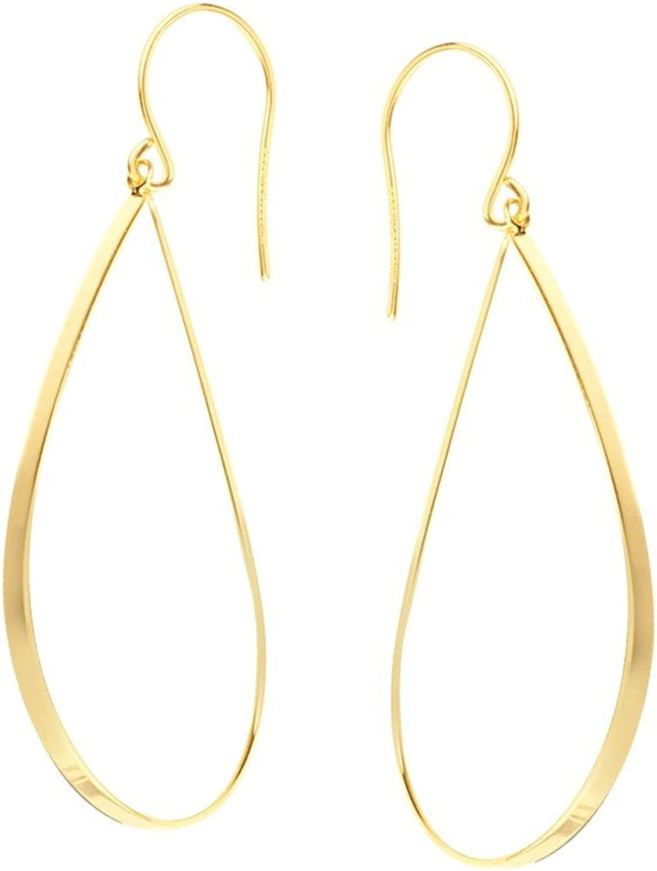 80% de descuento Pendientes de gota de oro amarillo amarillo amarillo de 14 quilates, Diseño lineal, EuroWire  genuina alta calidad