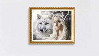 キャンバスアート壁ポスター 動物のオオカミの女の子 海报 绘画 帆布艺术 室内装饰 壁挂 墙壁海报 HD时尚海报