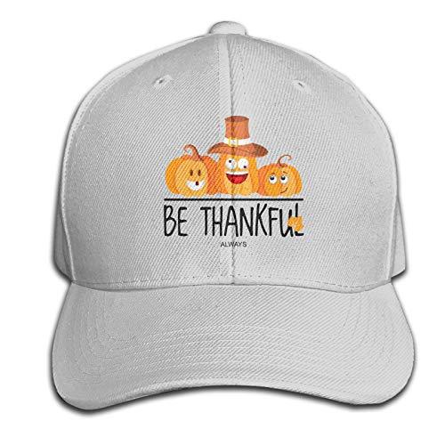 WJSDOWOWEN Be Thankful Always Happy - Gorro de Acción de Gracias, ajustable, color gris