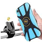 WDEC Soporte para Teléfono Móvil para Bicicleta Desmontable, Rotación De 360 Grados, Adecuado para Teléfonos Móviles iPhone, Samsung, Xiaomi, Huawei 4.5'-7', Bicicletas Universales y Motocicletas