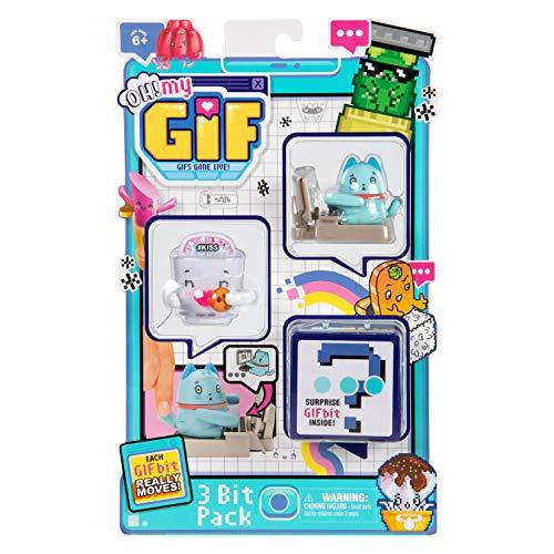 OH! My GIF 3-teiliges Spielzeug-Set – Catly & Smoochy Sammlerstück Real Life Animierte Figuren Plus Mystery Toy & Gift Download