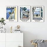 Abstracto floral ventana paisaje Matisse exposición cartel