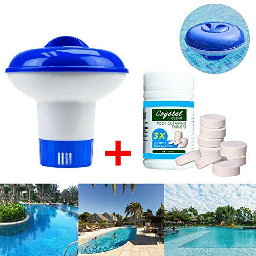 Whale city Pool schwimmende Chlorreinigungstablette (100 PC) Hot Tub Cleaner Chemical Dispenser