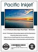 Pacific Inkjet - Premium Matte Inkjet Photo Paper - 100 Sheets 230gsm 8.5mil (11-X-14-inch) [並行輸入品]