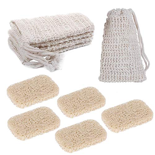 10 Packs Soap Exfoliating Bag and Soap Lifting Pads for Drawstring PVC Soap Saver Pouch Mesh Soap Bar Bag for Shower