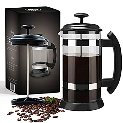 French Press Coffee Maker, 32 Oz Coffee Presses Tea Maker with Borosilicate Glass Heat Resistant For Hot Drinks