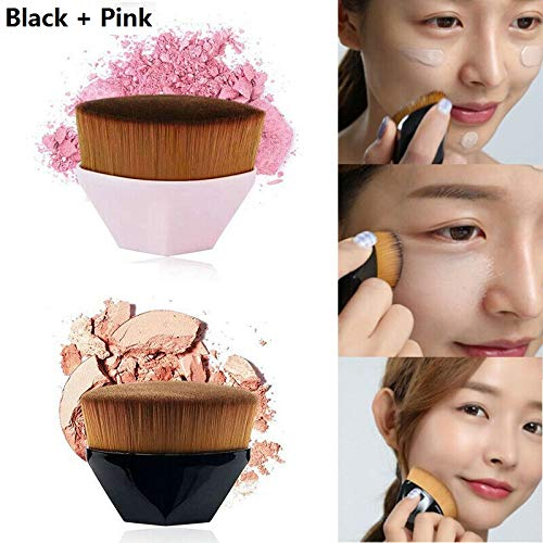 2PCS Flawless Wand Foundation Brush,High-Density Seamless Foundation Brush BB Cream Makeup Brushes Loose Powder No Trace