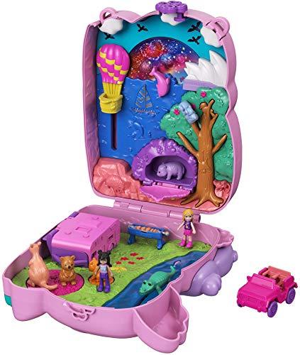 Polly Pocket Borsetta dei segreti Avventure Dolce Koala con 2 Micro Bambole, Animaletti e Accessori, Giocattolo per Bambini 4+Anni, GXC95