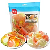 17.6oz / 500g Prawn Crackers Shrimp Chips, Chinese Classic Childhood Prawn Flavored Chips, Deep Fry at Home, Puffed Food