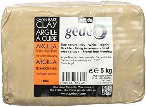 Pébéo Gedeo 766303 - Argilla per cottura al forno, bianca, 5 kg, 1 confezione