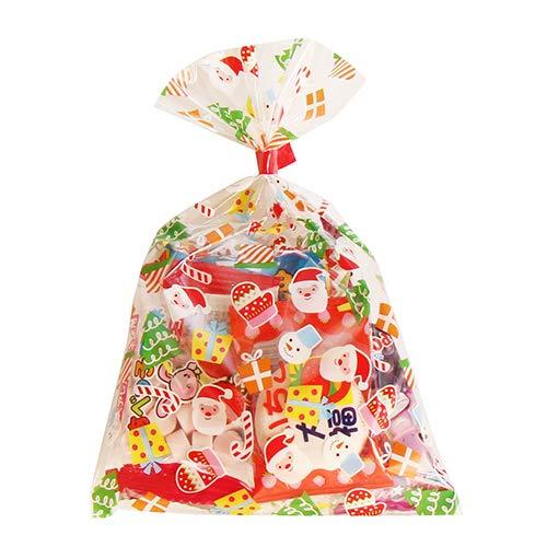 クリスマス袋 6袋 お菓子 詰め合わせ(Cセット) 駄菓子 袋詰め おかしのマーチ