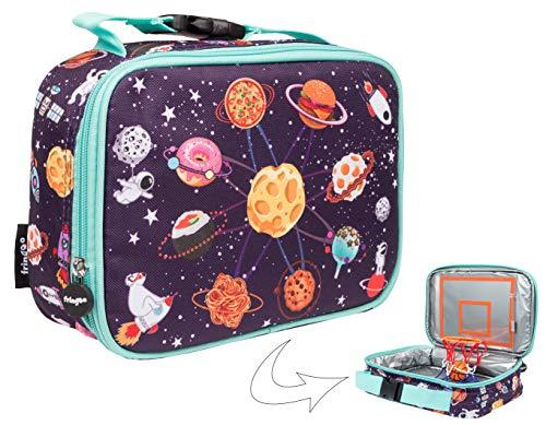 FRINGOO Jungen Vespertasche Basketball Thermoisolierte Kühltasche für Kinder Schule Kindergarten Picknick Lebensmittel Snack Träger