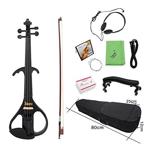 ammoon 4/4 Full Size Violino Elettrico Violino in Legno...