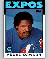 1986 Topps Baseball #760 Andre Dawson Montreal Expos Official MLB Trading Card (stock photo used, NM or better guaranteed)