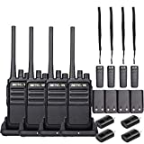 Retevis RT17 Walkie Talkies Long Range, Rechargeable 2 Way Radio,Two Way Radio for Adults,Vox Handsfree USB Charging Crystal Sound,Outdoor Travelling Camping Hiking (4 Pack)