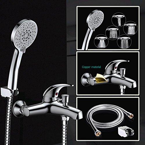 HT Cinq mélangeur pomme de douche fonction d'économie haute pression ABS chromé douche à main baignoire robinet M-A3018-1D