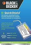 BLACK + DECKER QuickShield Self-Adhesive Luggage Tag Laminating Pouches, 8-mil, 5 Pack (LUG-5SS)