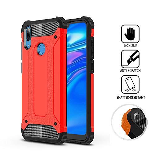 KISCO für Cover Xiaomi Mi Play, [Anti-Scratch] [Stoßfest] Schlanker TPU + PC-Hartschalen-Cover-Schutz für Xiaomi Mi Play-Red