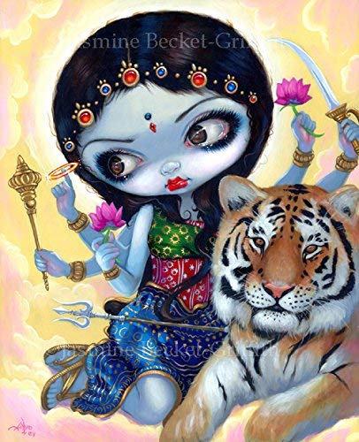 """""""Durga and the Tiger"""" SIGNED sold out Glossy trend rank Prints Jasmine Art Photo by"""