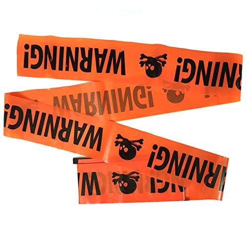 symboat Halloween Party Warning banda banda signos decoración de plástico durable para pared de ventana