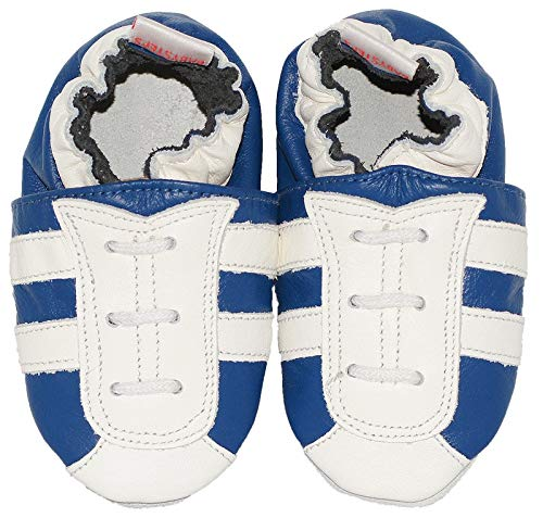 Babysteps Bleu foncé à rayures Chaussures bébé, petite, Bleu