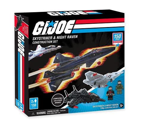 GI Joe Skystriker & Night Raven Jet Fighter Construction Set (150 Total Pieces)