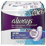 Always Discreet - Assorbenti lunghi plus, per perdite urinarie e incontinenza, confezione da 2