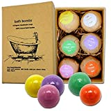 Organic & Natural Bath Bombs, Handmade Bubble Bath Bomb Gift Set, Perfect for Bubble & Spa Bath. Handmade Birthday Mothers day Gifts idea For Her/Him, wife, girlfriend